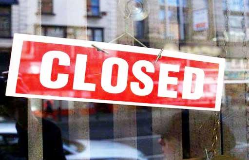 bank closed