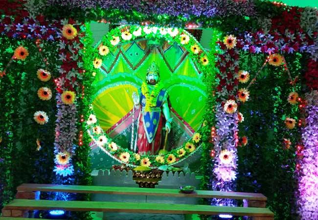 सार्दुलगंज स्थित श्रीग्रेजुएट बालाजी मंदिर।