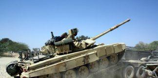 महाजन फायरिंग रेंज में युद्धाभ्यास 'विजय प्रहारÓ के तहत दुश्मन के ठिकानों पर हमला बोलते टैंक।