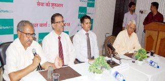 बीकानेर स्थित होटल भारत में प्रेस कांफ्रेंस को संबोधित करते डॉ. तनवीर मालावत।
