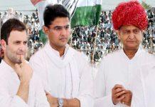 Rahul Gandhi-Ashok Gahlot-Sachin Pilot