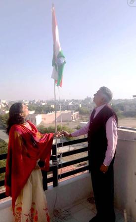 बिन्नानी हॉस्पिटल एवं आईवीएफ सेन्टर में ऐसे मनाया गणतंत्र दिवस समारोह