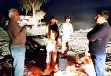 बीकानेर में जिप्सम के अवैध खनन का निरीक्षण के लिए रात को निकले कलक्टर कुमारपाल गौतम।