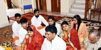 बीकानेर के आचार्यों की घाटी क्षेत्र में आयोजित श्रीदुर्गा सप्तशती के पाठ का आयोजन।